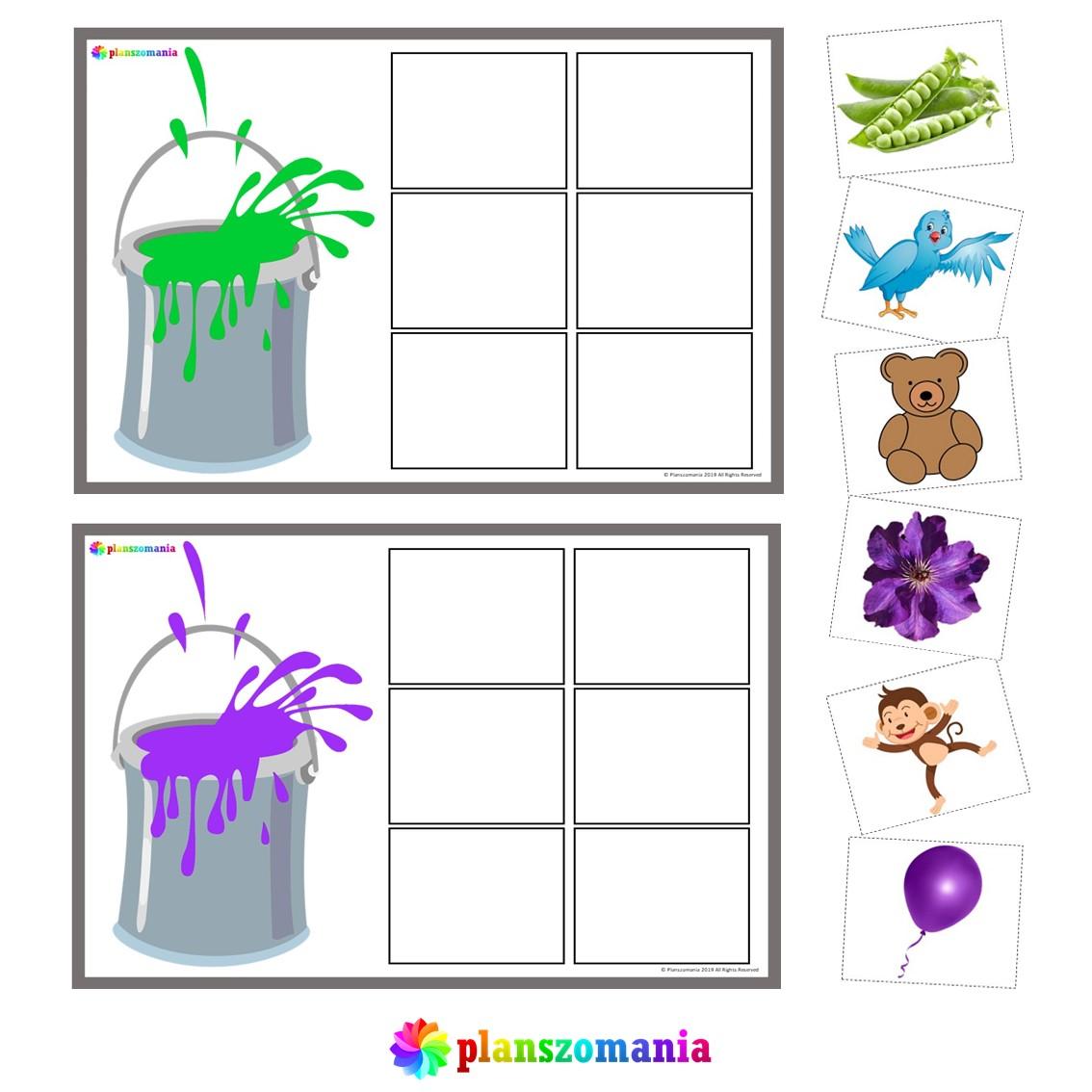 kolory nauka kolorów układanka klasa 1 2 3 szkoła podstawowa dla dzieci przedszkole zadanie pomoce edukacyjne pdf do druku za darmo