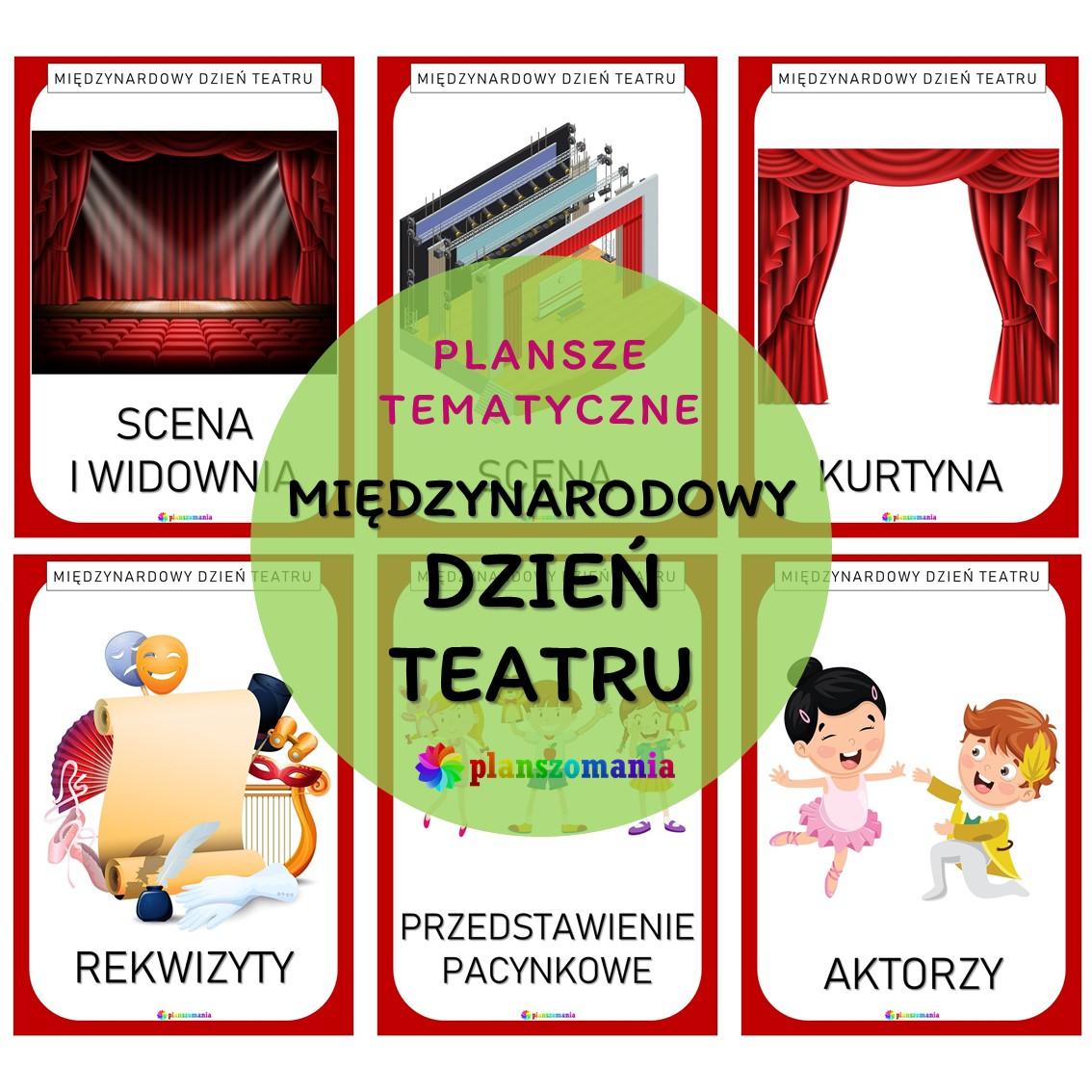 międzynarodowy dzień teatru teatr plansze edukacyjne dydaktyczne dla dzieci dla nauczycieli