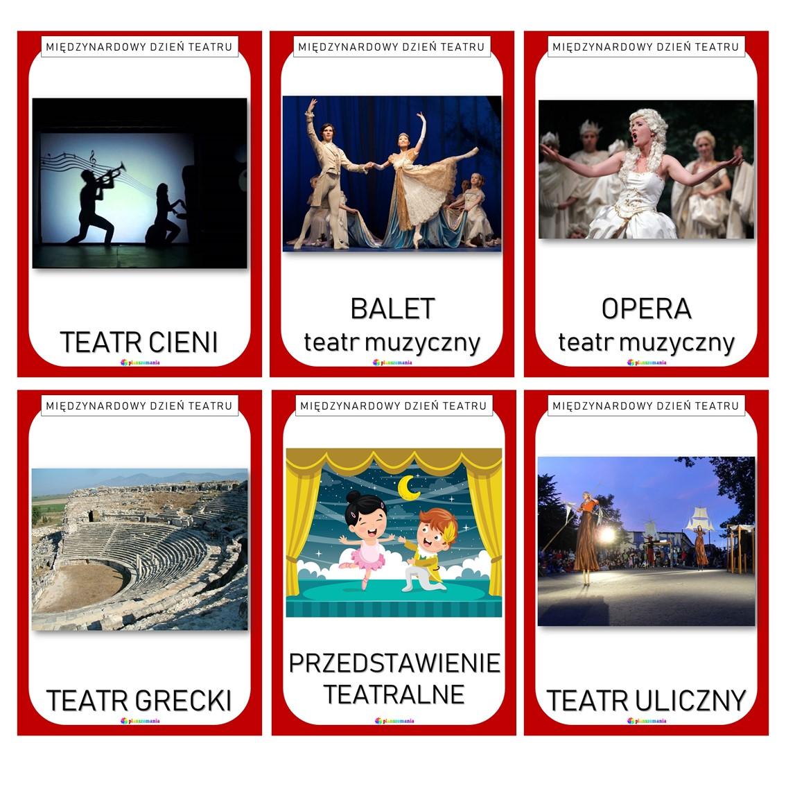 międzynarodowy dzień teatru teatr plansze edukacyjne dydaktyczne dla dzieci dla nauczycieli do druku pdf