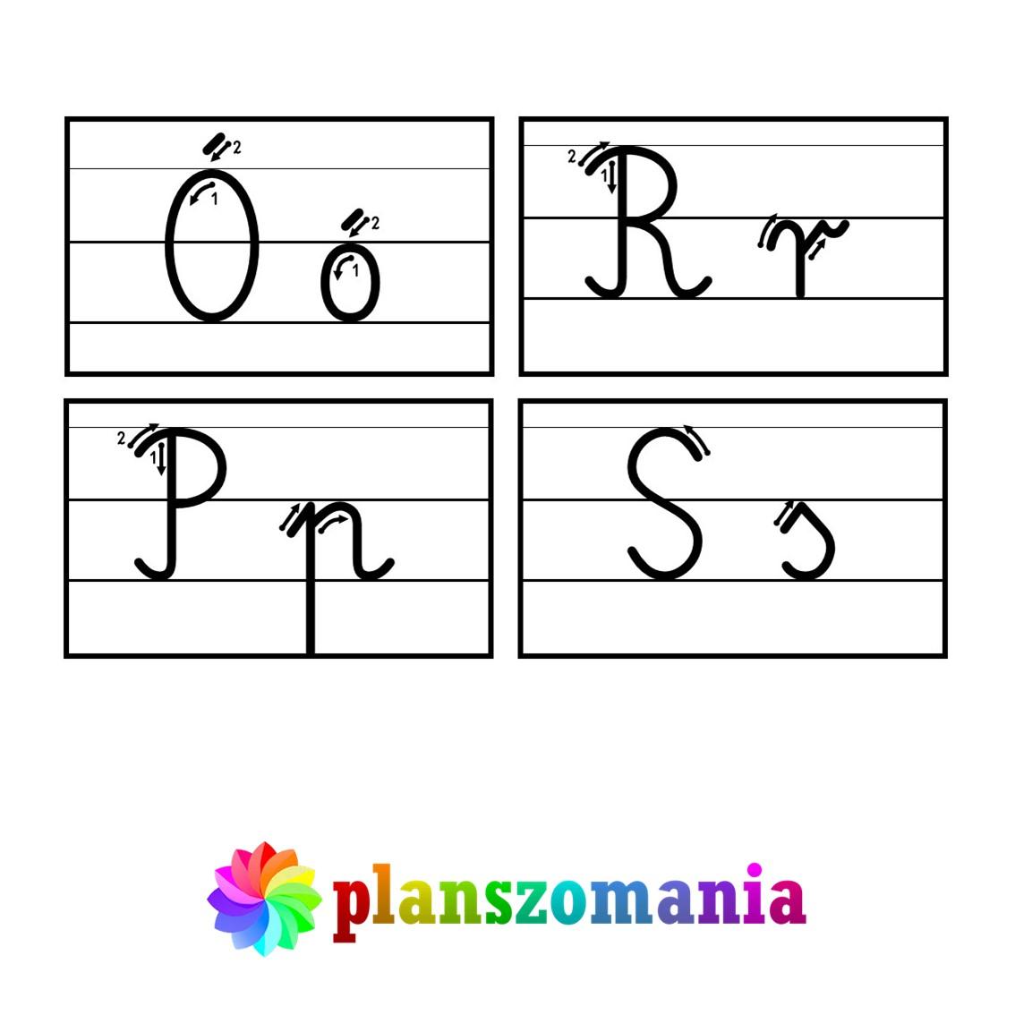 wklejki do zeszytu wklejki do pierwszej klasy pdf alfabet ruch kreślenia liter