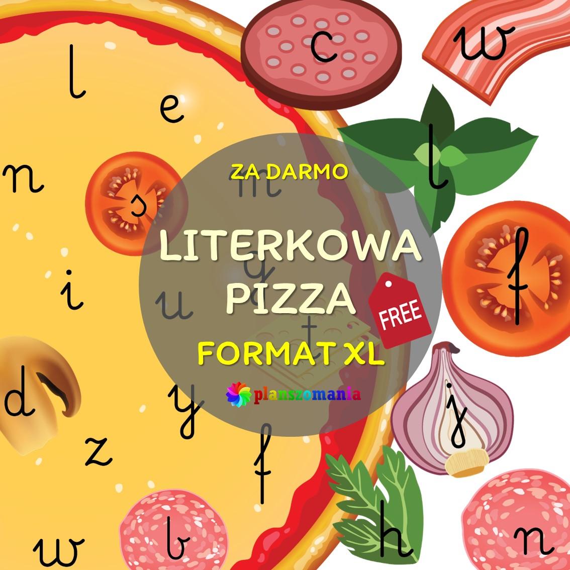 Literkowa pizza – zestaw darmowy alfabet