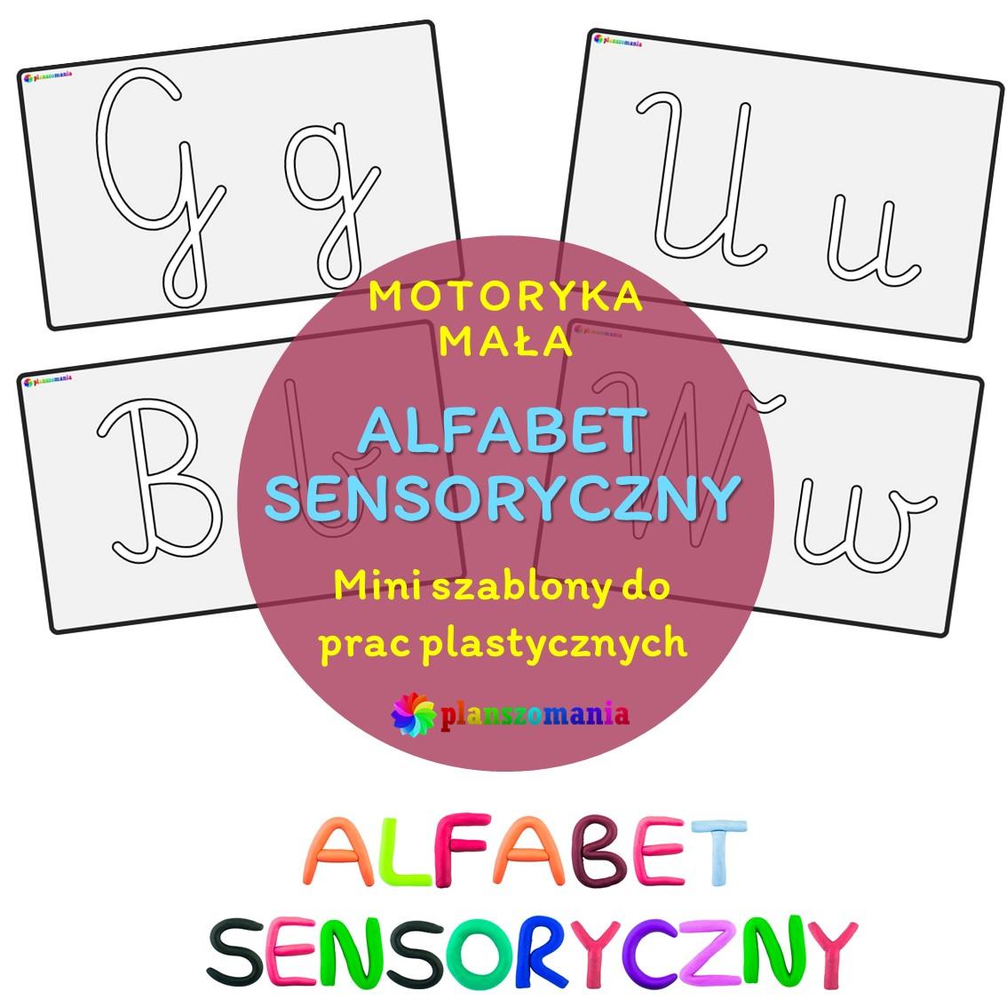 abecadło sensoryczne wersja mini pdf alfabet pobierz dla dzieci planszomania