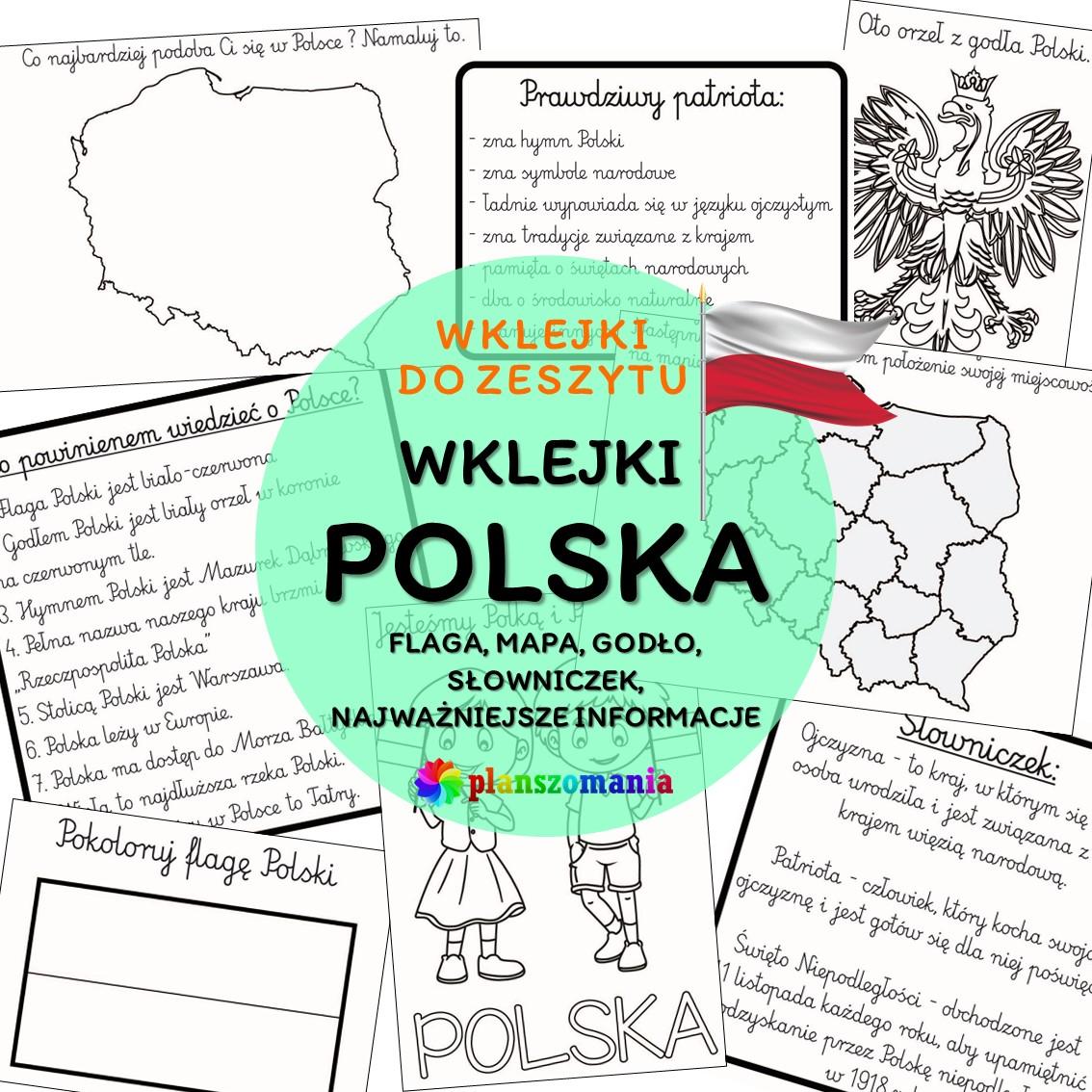 wklejki do zeszytu wklejki do pierwszej klasy pdf polska święto niepodległości materiały dla nauczyciela