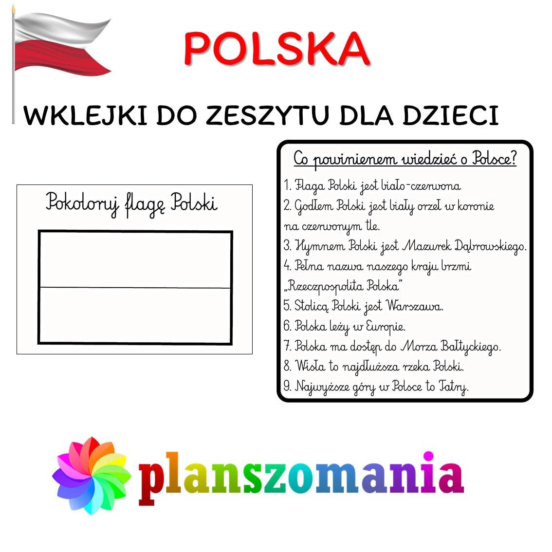 wklejki do zeszytu wklejki do pierwszej klasy pdf polska 3 maja święto narodowe materiały do druku