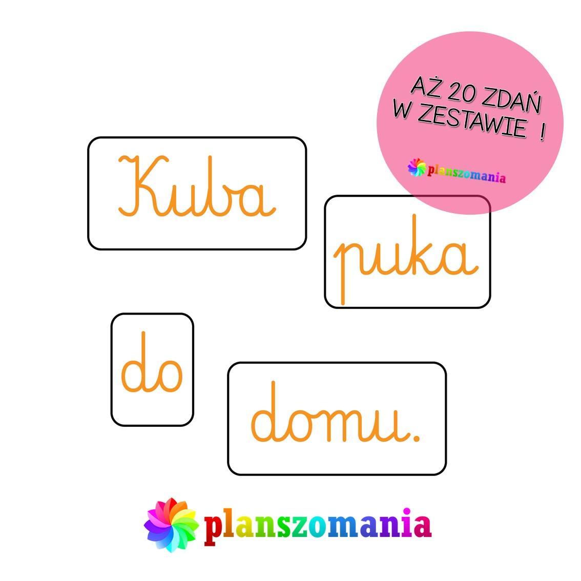 rozsypanka wyrazowa układam zdania układanka wyrazowa planszomania edukacja polska szkoła przedszkole edukacja czesnoszkolna pdf za darmo do druku
