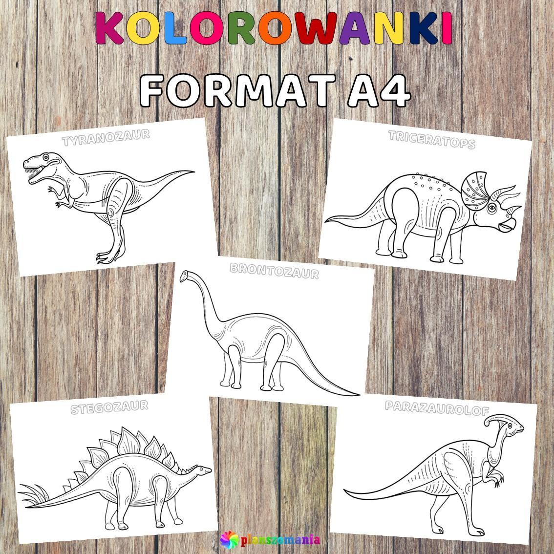 Dinozaury pakiet pomocy edukacyjnych świat odkrywców pdf do pobrania scenariusz zajęć kolorowanki planszomania
