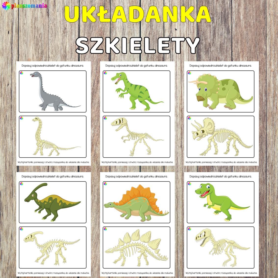 Dinozaury pakiet pomocy edukacyjnych świat odkrywców pdf do pobrania scenariusz zajęć szkielety dinozaurów planszomania