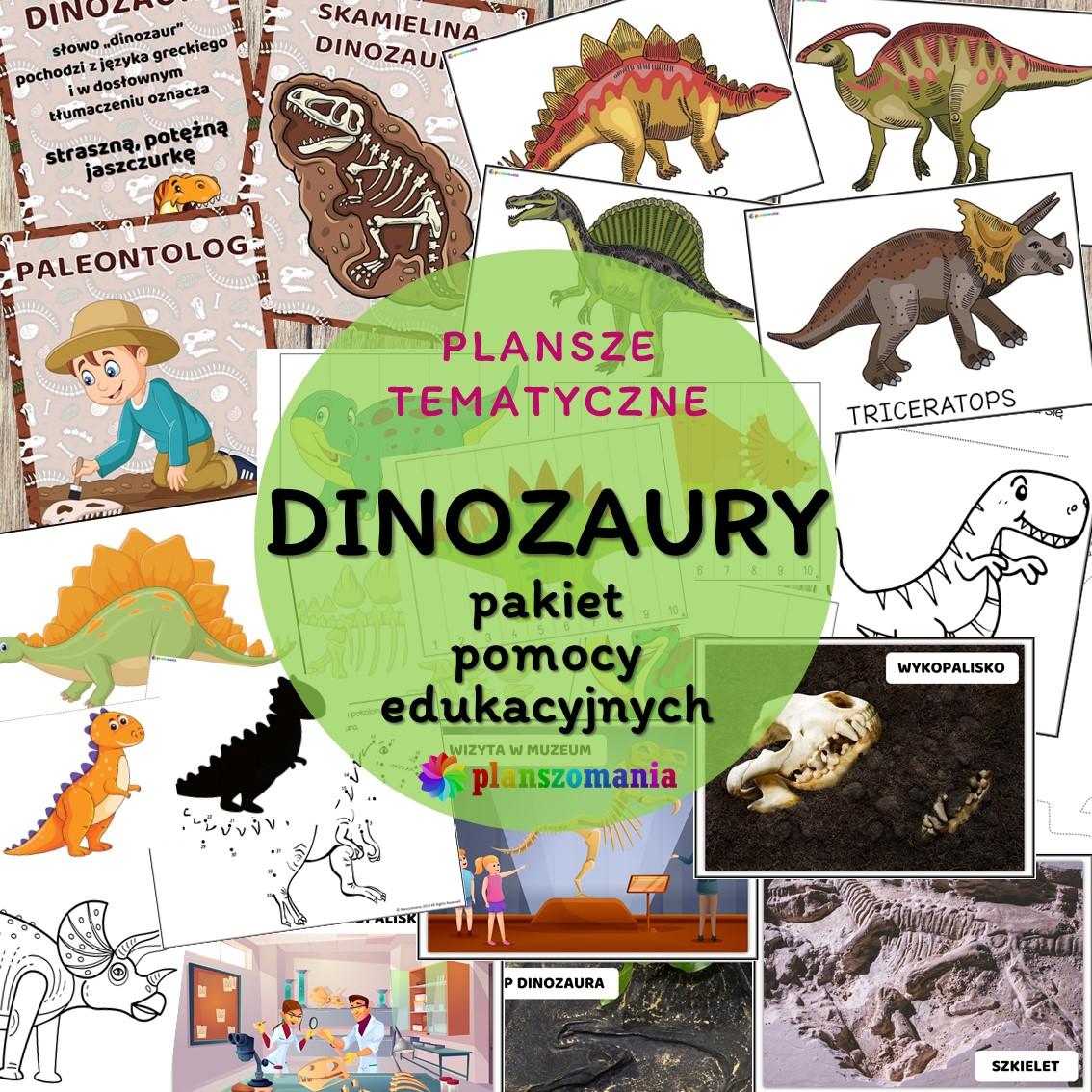 Dinozaury pakiet pomocy edukacyjnych świat odkrywców pdf do pobrania scenariusz zajęć
