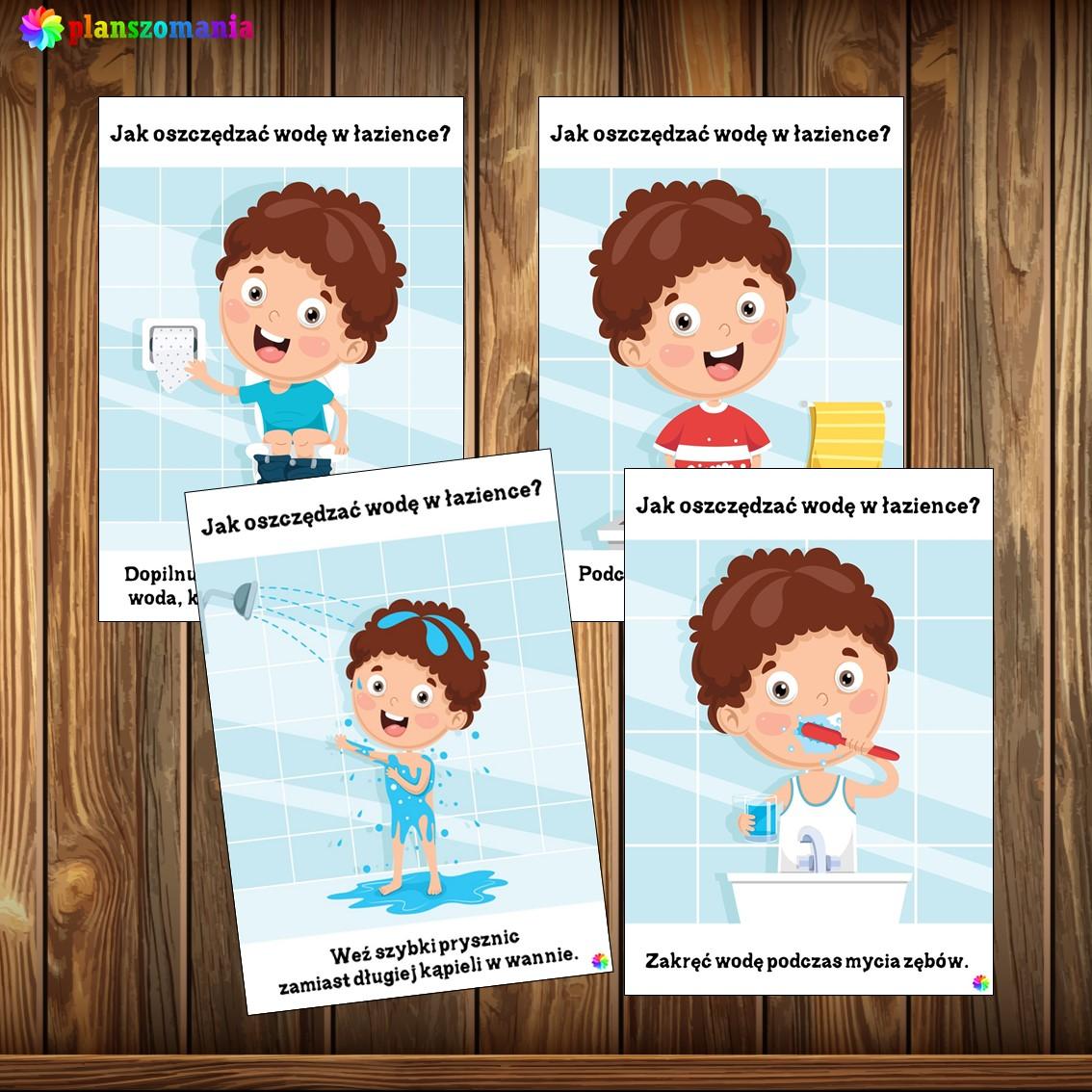 światowy dzień wody planszomania pomoce dydaktyczne pdf jak oszczędzać wodę w łazience