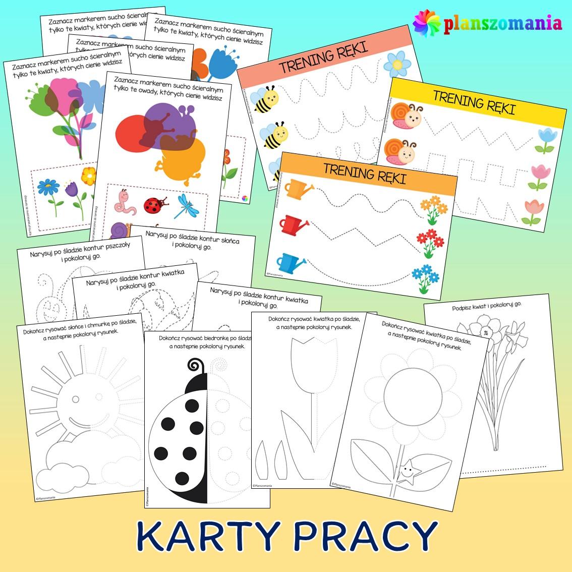 wiosna dużypakiet edukacyjny pdf do druku dla dzieci planszomania scenariusz zajęć edukacja wczesnoszkolna karty pracy