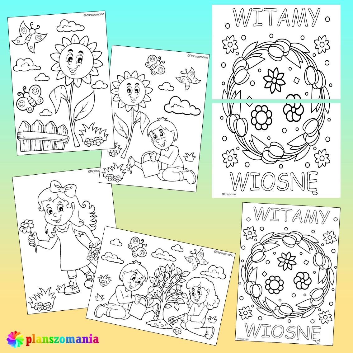 wiosna dużypakiet edukacyjny pdf do druku dla dzieci planszomania scenariusz zajęć edukacja wczesnoszkolna kolorowanki