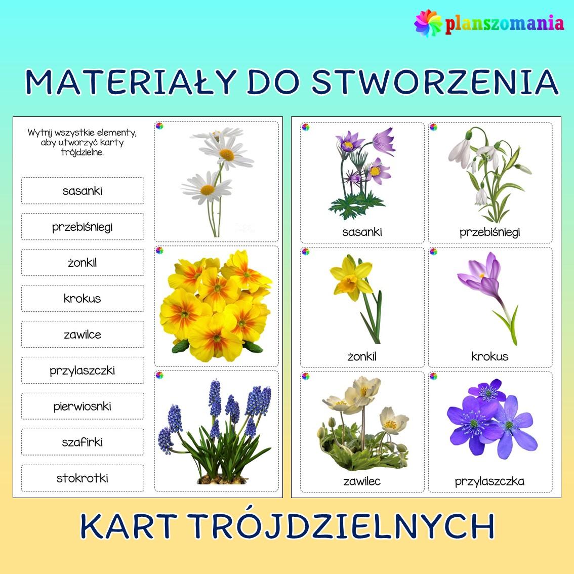 wiosna dużypakiet edukacyjny pdf do druku dla dzieci planszomania scenariusz zajęć edukacja wczesnoszkolna wiosenne kwiaty