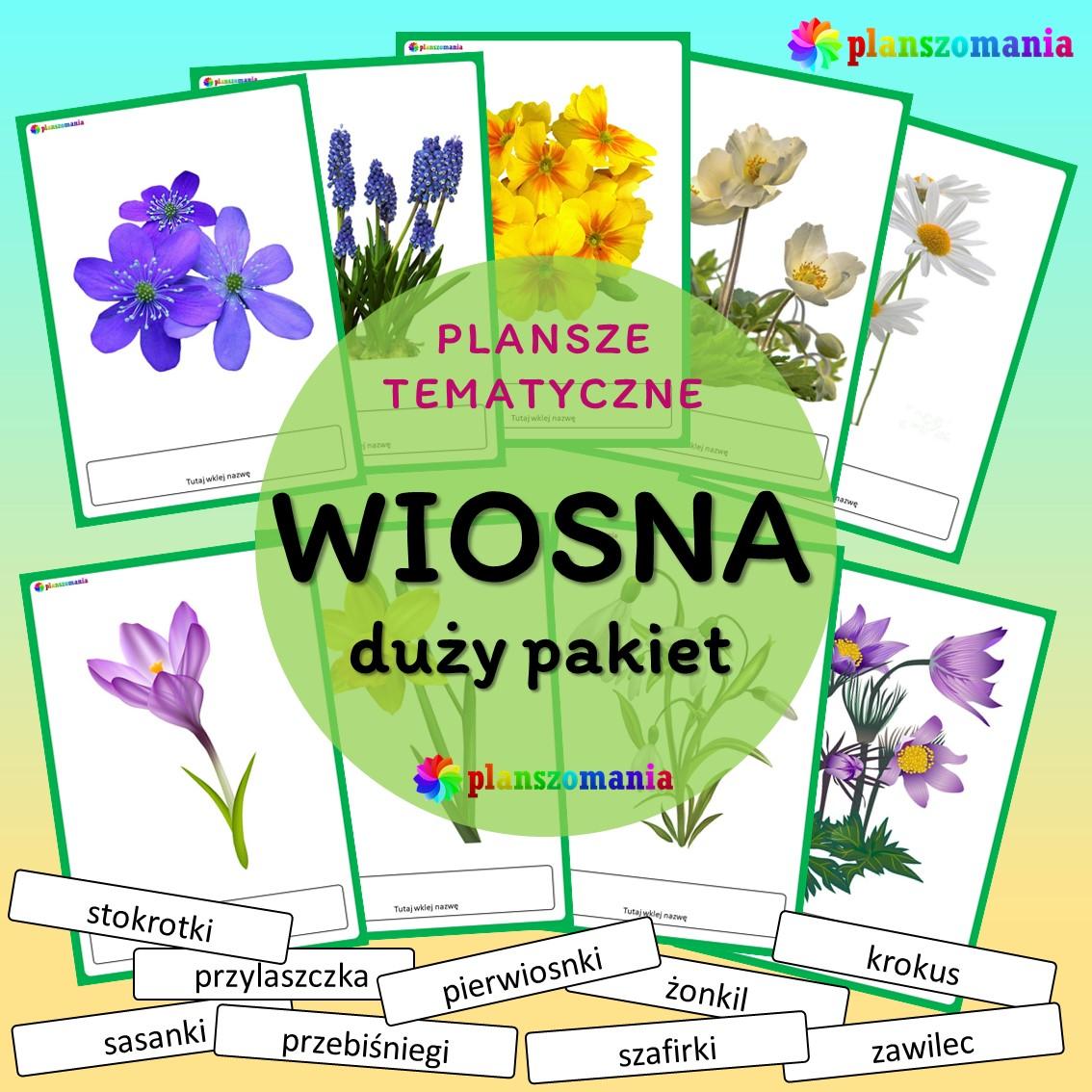 wiosna dużypakiet edukacyjny pdf do druku dla dzieci planszomania scenariusz zajęć edukacja wczesnoszkolna