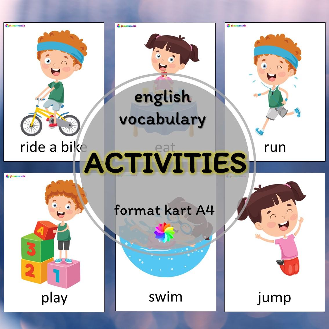 activities aktywności plansze ze słownictwem język angielski z języka angielskiego english flashcards kids pdf do druku