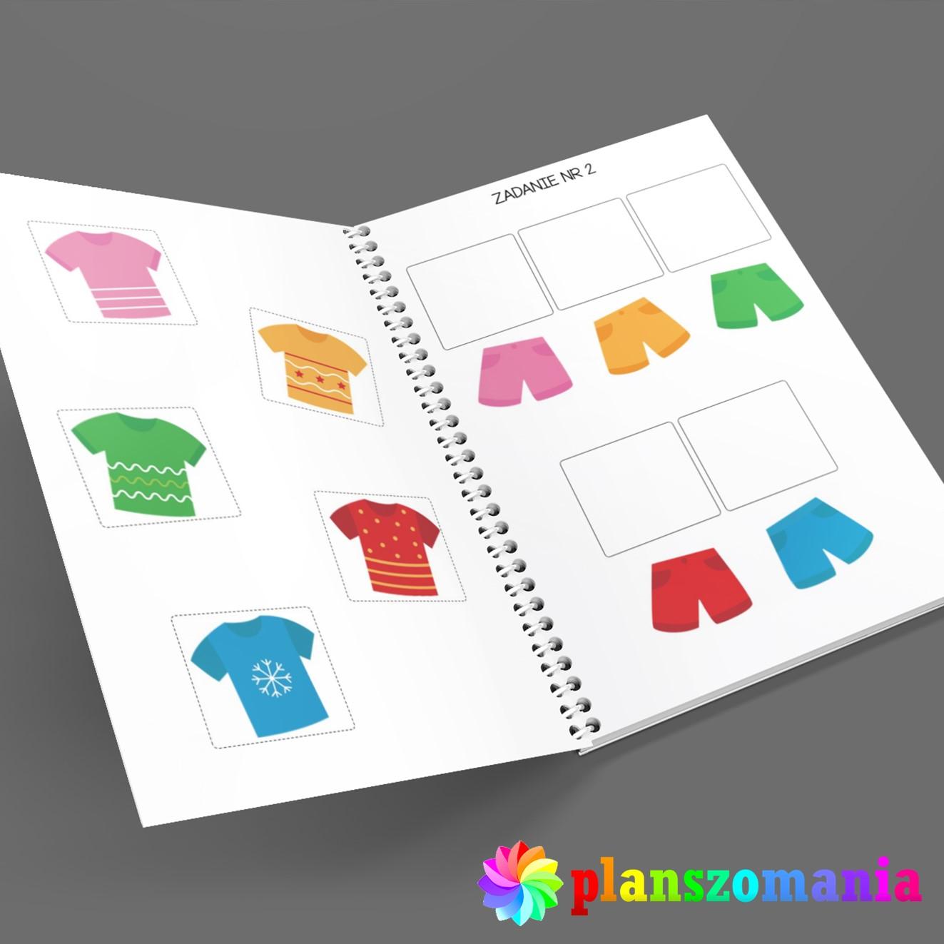 poznaję kolory nauka kolorów dla dzieci do druku pdf za darmo planszomania książka
