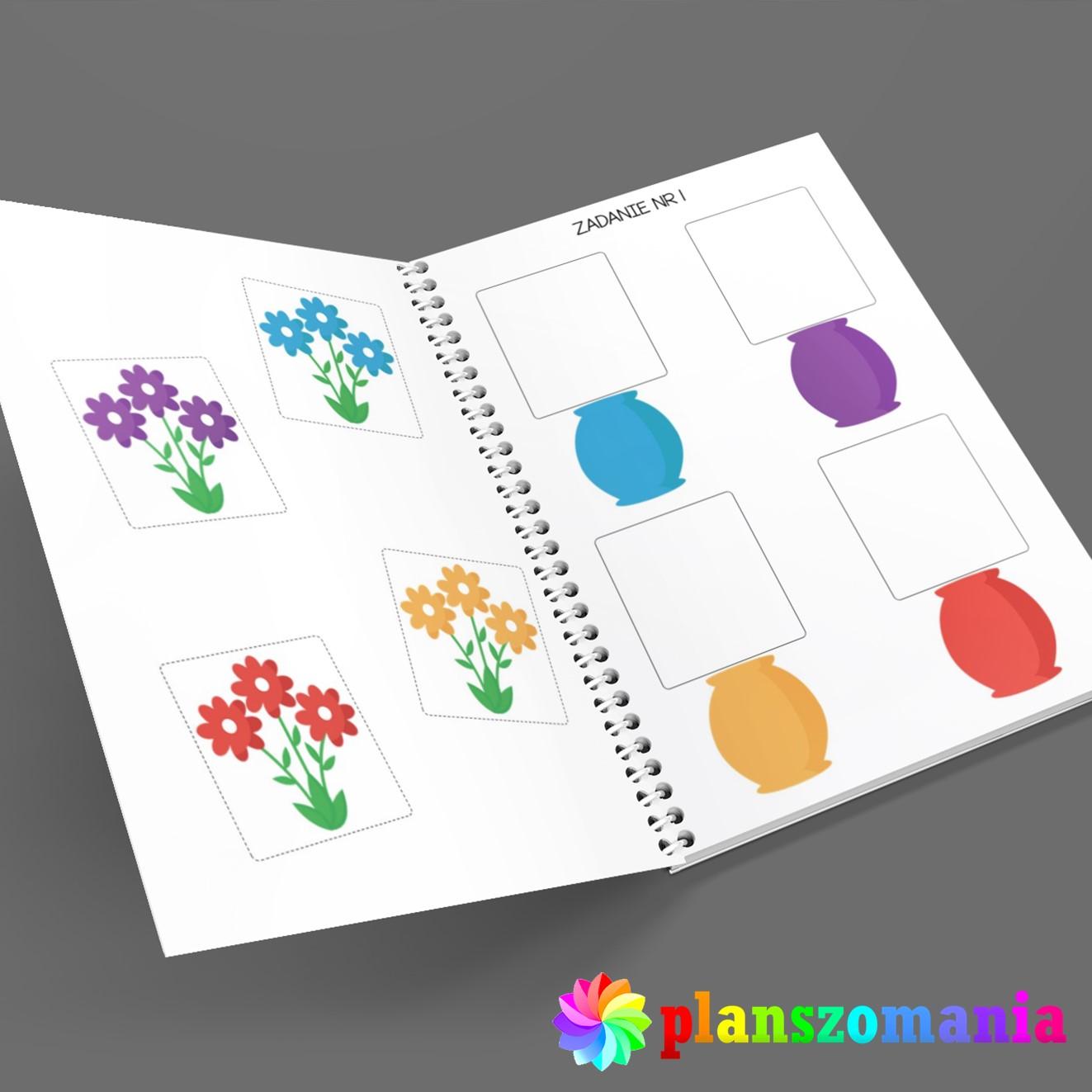 poznaję kolory nauka kolorów dla dzieci do druku pdf za darmo planszomania