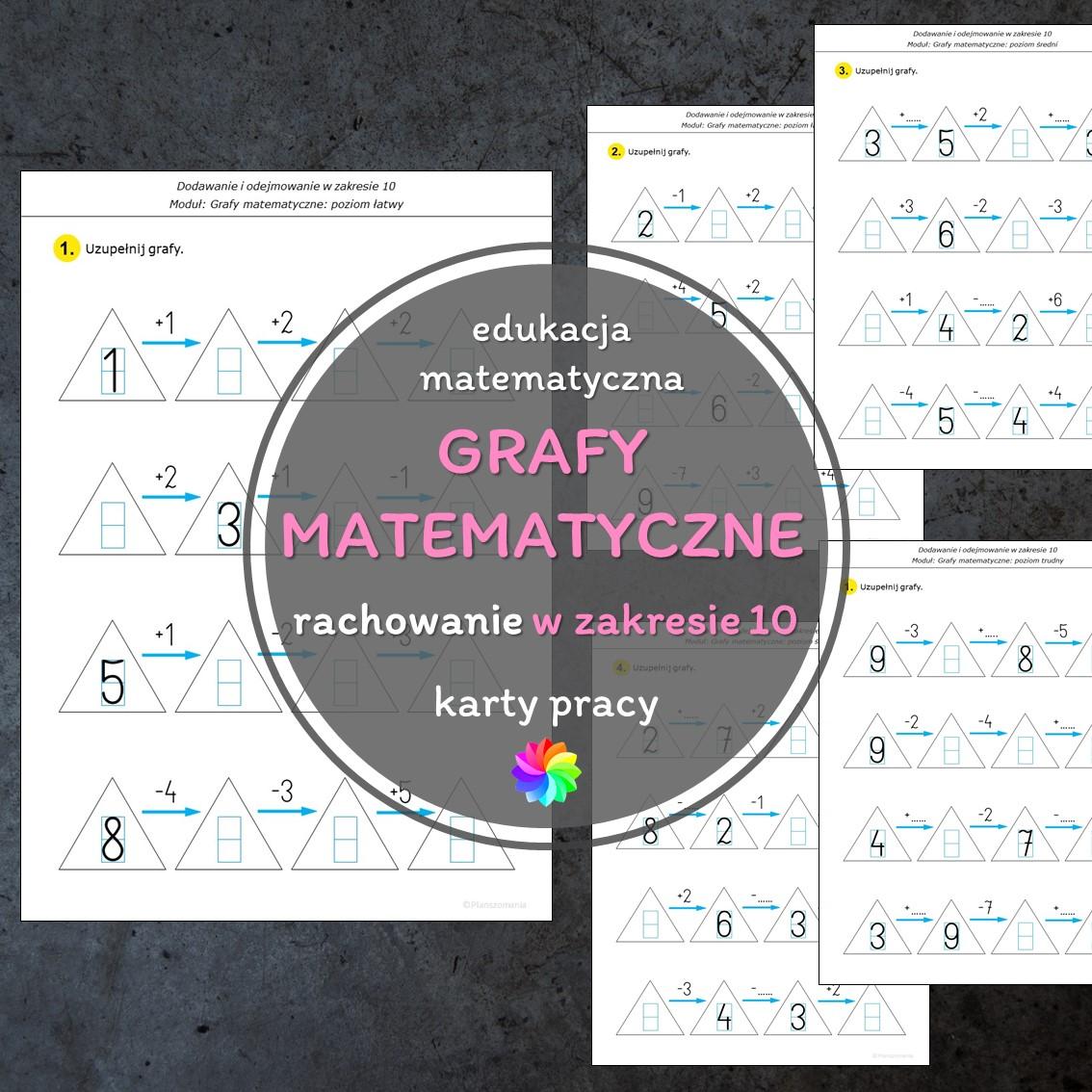 grafy matematyczne dodawanie i odejmowanie karty pracy edukacja matematyczna pomoce edukacyjne szkoła podstawowa pdf do druku